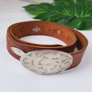 CHICO'S Vintage Genuine Leather Belt